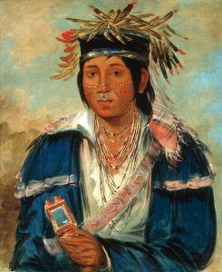 Peoria Indian by George Catlin, 1830