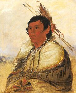 Piankeshaw Man by George Catlin
