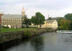 Slater Mill, on the Blackstone River, in Pawtucket, Rhode Island courtesy Wikipedia