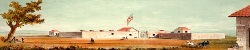 Sutter's Fort, Sacramento, California, 1847