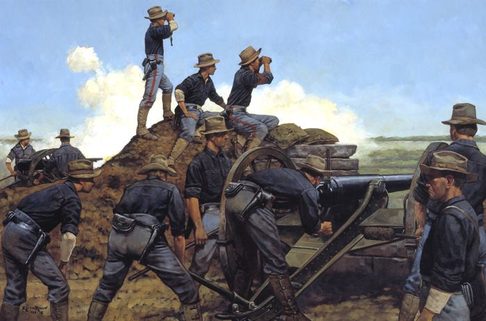 The Utah Light Artillery in the Philippines by Keith Rocco, National Guard Series