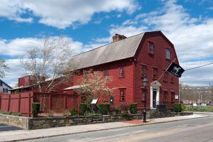 The White Horse Tavern in Newport, Rhode Island was established in 1673 and holds the the oldest tavern license in the country. By Kenneth C. Zirkel, Wikipedia