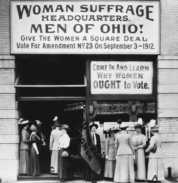 Woman Suffrage Headquarters, Cleveland, Ohio, 1912