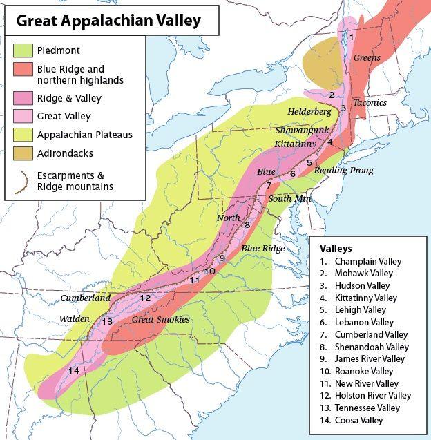 Great Appalacian Valley Map