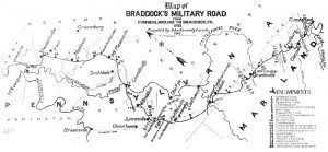 Braddock's Road Map