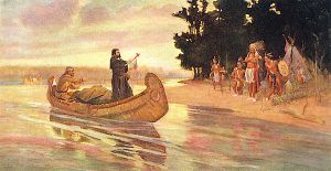 Father Jacques Marquette and the Illini Indians