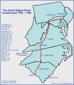 Great Wagon Road Map