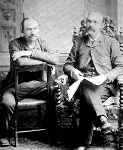 Sam Pipes, on left, and Albert Henderson, on right shortly after they were released from prison