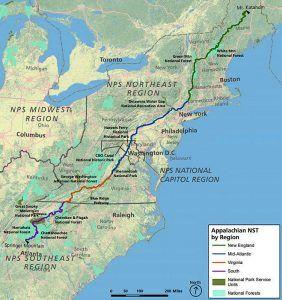 Appalachian Trail Map courtesy National Park Service