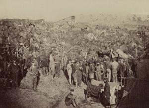Issuing Rations at Andersonville, Georgia Prison by Andrew J. Riddle, 1864