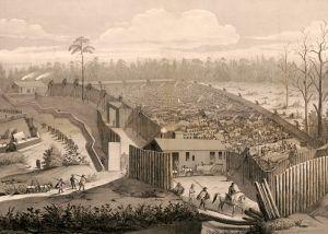 Andersonville, Georgia prison by John B. Walker, 1865