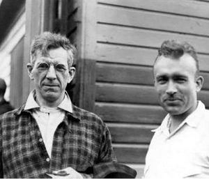 Benton MacKaye, left, and Myron Avery, who helped bring MacKaye's vision to life.