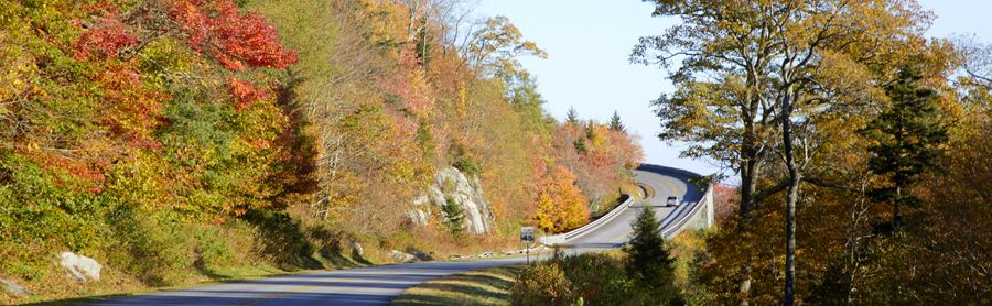 Blue Ridge Parkway in North Carolina by Carol Highsmith.