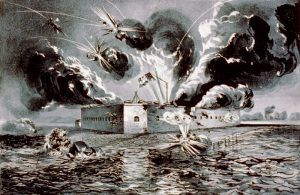 Bombardment of Fort Pulaski, Georgia by Currier & Ives, 1862