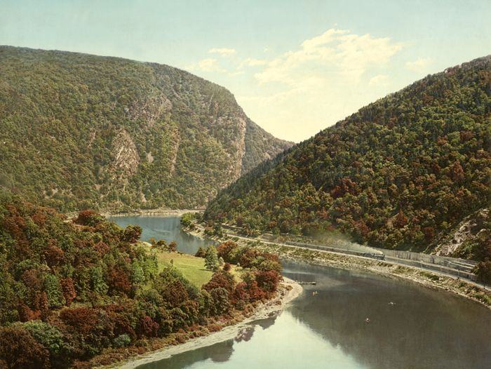 Delaware Water Gap, from Winona Cliff, Pennsylvania by William H. Jackson, about 1900