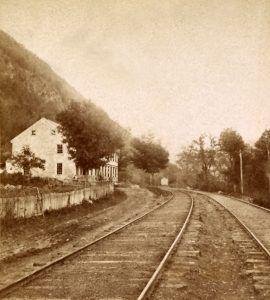 Railroad Tracks through the Delaware Water Gap, Pennsylvania
