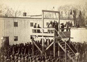 Execution of Confederate Captain Henry Wirtz by Alexander Gardner, 1865