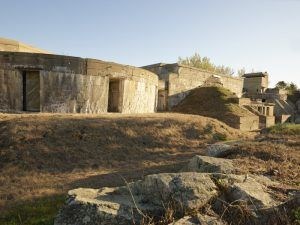 A portion of the ruins at Fort Constitution in New Castle, New Hampshire