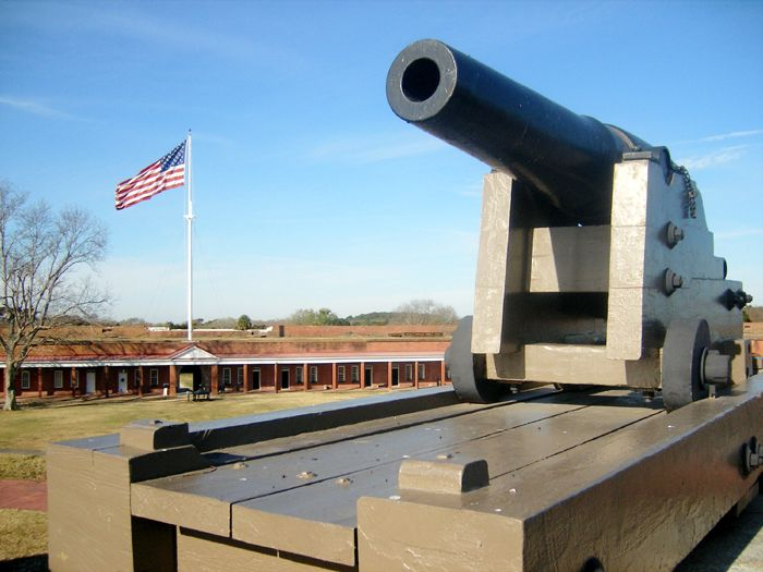Cannon at Fort Pulaski, Georgia by the National Park Service