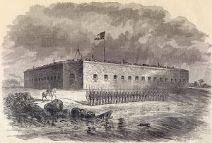 Fort Pulaski, Savannah, Georgia by Harpers Weekly Newspaper, December 28, 1861