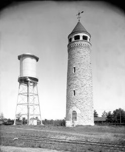 Fort Ethan Allen Water Towers by Detroit Publishing, 1907
