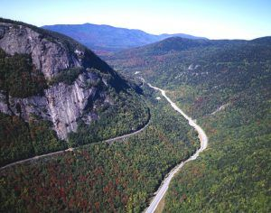 Franconia Notch, New Hampshire, on the Appalachian Trail, photo by Carol Highsmith.