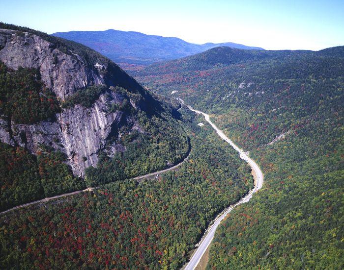 Franconia Notch, New Hampshire, on the Appalachian Trail, photo by Carol Highsmith.