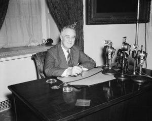 President Franklin Roosevelt, by Harris & Ewing, 1938