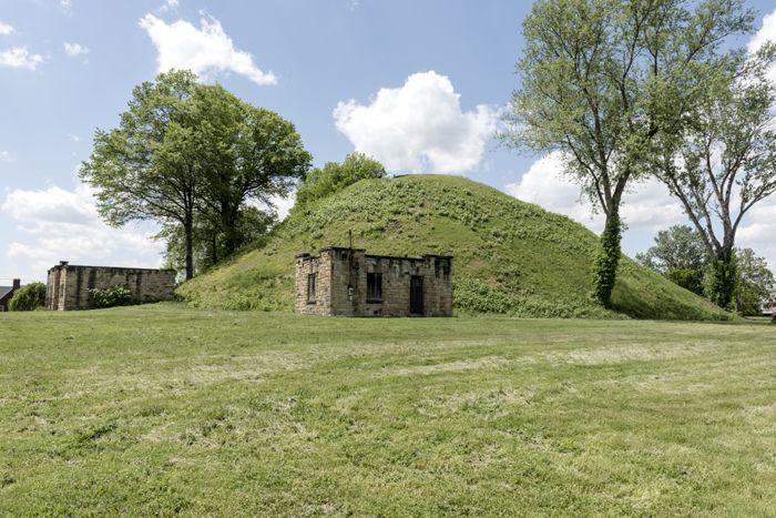Grave Creek Mound, Moundsville, West Virginia by Carol Highsmith.