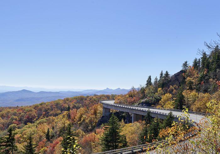 Linn Cove Viaduct, Blue Ridge Parkway near Linville, North Carolina by Carol Highsmith
