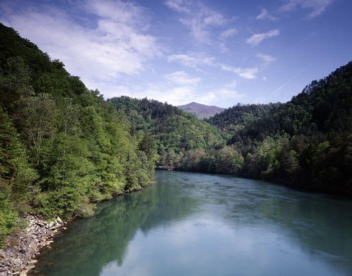 Little Tennessee River Crossing, Appalachian Trail by Carol Highsmith