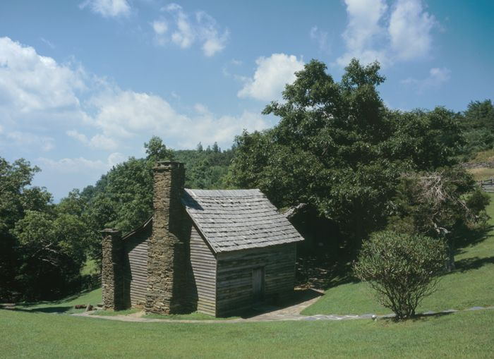Martin Brinegar cabin at Doughton Park, North Carolina by David Haas