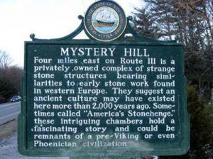 Mystery Hill, Salem, Massachusetts Historic Marker