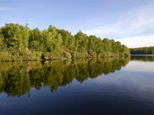 Price Lake, along the Blue Ridge Parkway, below Blowing Rock, North Carolina. Photo by Carol Highsmith.