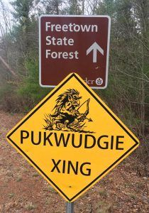 Pukwudgie Crossing in the Freetown-Fall River State Forest