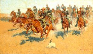 U.S. Cavalry by Frederic Remington, 1907