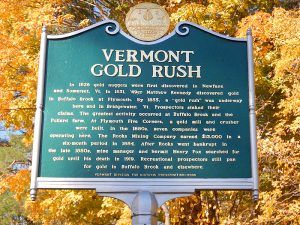 Vermont Gold Rush Marker
