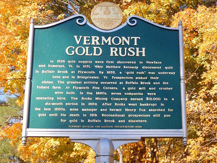 Vermont Gold Rush Marker