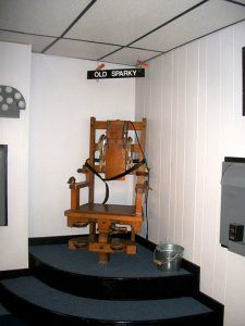 West Virginia Penitentiary Electric Chair, courtesy Wikipedia
