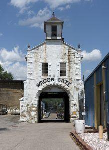 West Virginia State Penitentiary Wagon Gate by Carol Highsmith.
