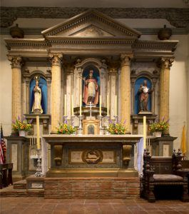 Altar at Mission San Buenaventura, Ventura, California by Carol Highsmith