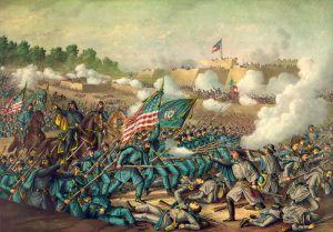 Battle of Williamsburg, Virginia by Kurz & Allison, 1893
