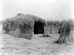 Cahuilla house in the desert, California by Edward S. Curtis, 1924