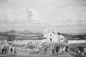 Carmel Mission, California by Oriane Day, early 1800s