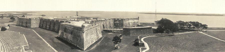 Castillo de San Marcos, St. Augustine, Florida by the Harris Co, 1912