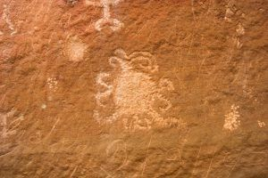 Petroglyph at Chaco Canyon, New Mexico by the National Park Service