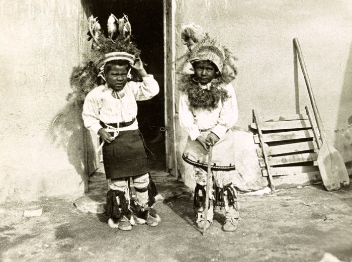 Cochiti Pueblo Boys By The Detroit Photo Co About 1900