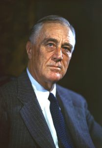 Franklin Roosevelt's Official Campaign Portrait in 1944, by Leon A. Perskie