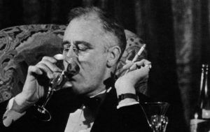 Franklin Roosevelt Smoking