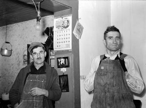 Former Coal Miners put to work by the WPA in Zeigler, Illinois by Arthur Rothstein, 1939
